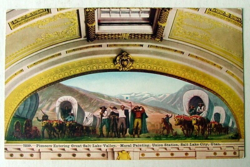 LAKE CITY Ut Postcard Mural Painting Union Station - $5.85. FOR YOUR CONSIDERATION IS A POSTCARD OF A MURAL PAINTING IN THE UNION STATION CAPTIONED