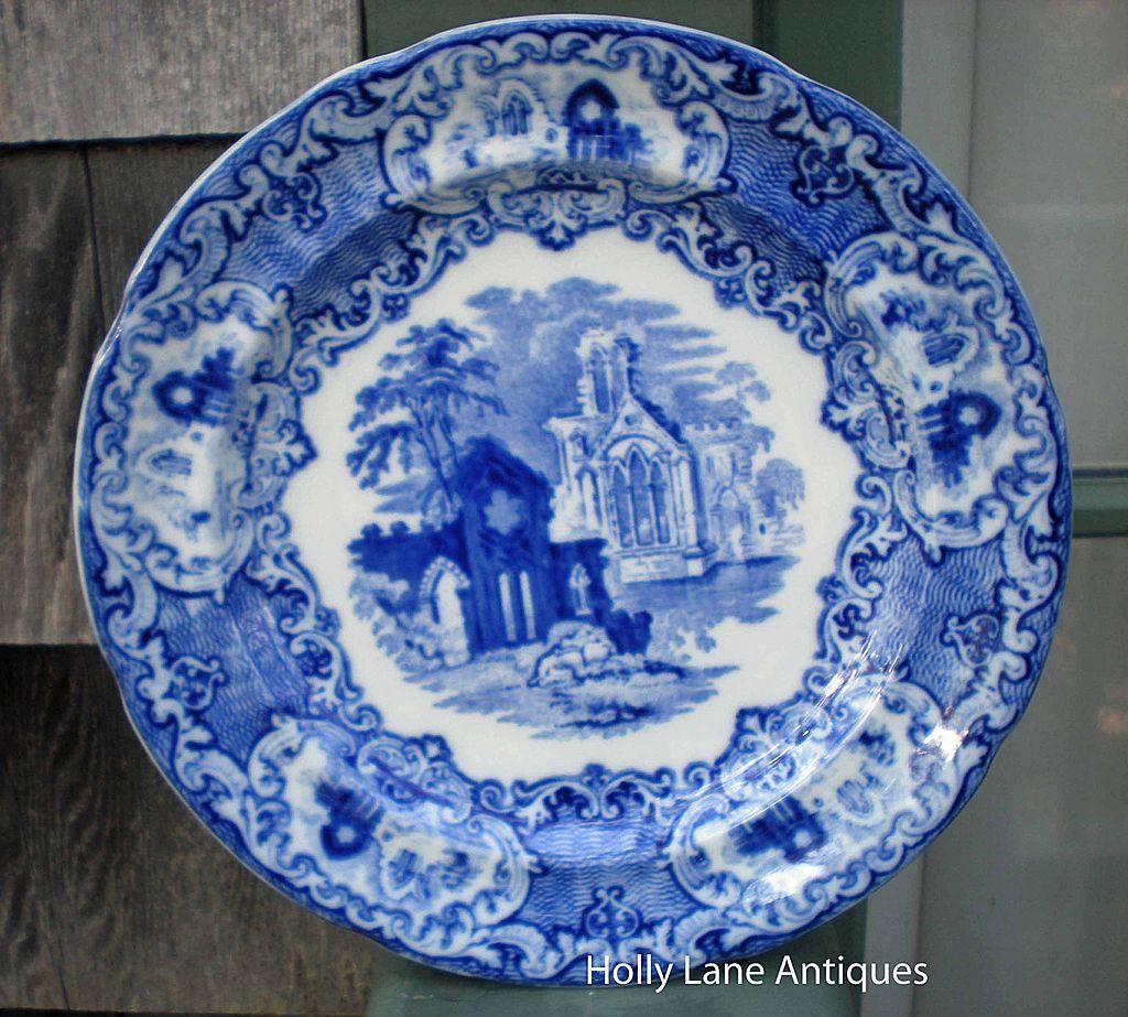 Antique Flow Blue Plate Abbey By George Jones & Antique Flow Blue Plate Abbey By George Jones | The Blues ...
