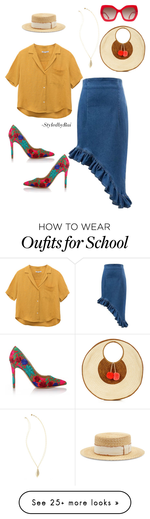 """School's Out"" by shellishells on Polyvore featuring"