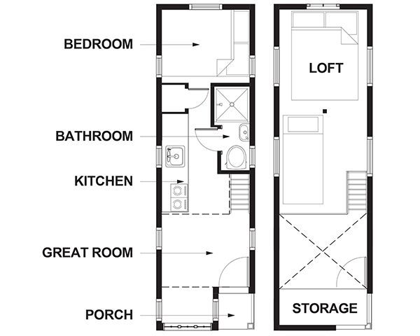 lincoln a 261 sq ft tiny house from the tumbleweed tiny house company available for - Tumbleweed Tiny House Plans
