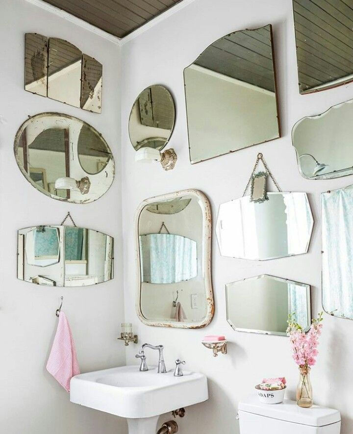 Mirrors On Bathroom Walls Vintage Bathroom Mirrors Mirror Gallery Vintage Mirror Wall