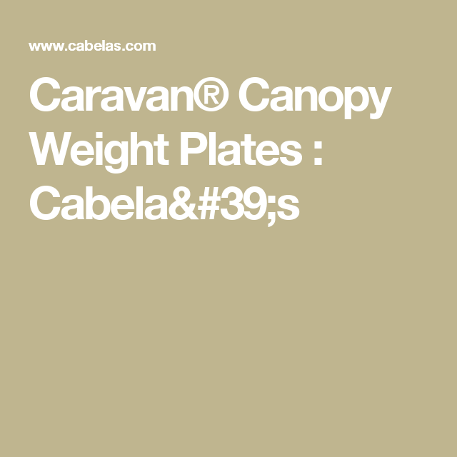 Caravan Premium Canopy Weight Plates 4 Pack Canopy Weights