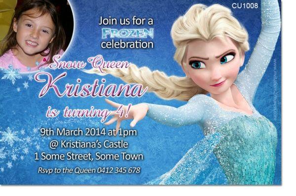 CU1008 - Frozen Birthday Invitation