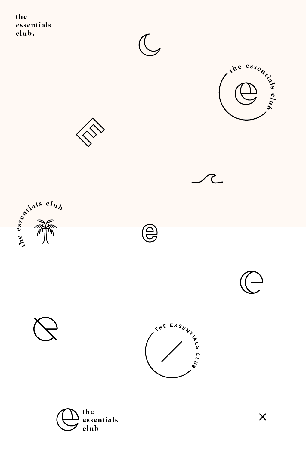 The Essentials Club logo concept icon designs  minimal tropical typography grap  The Essentials Club logo concept icon designs  minimal tropical typography graphic design...