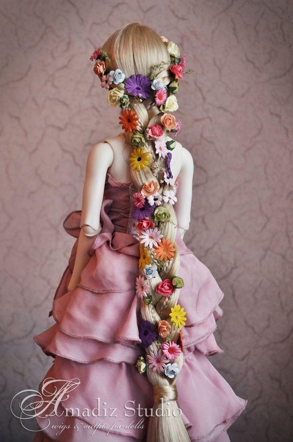 Rapunzel - custom cosplay wig for doll 58 cm Model - Clair - Soom [MD] Breccia…