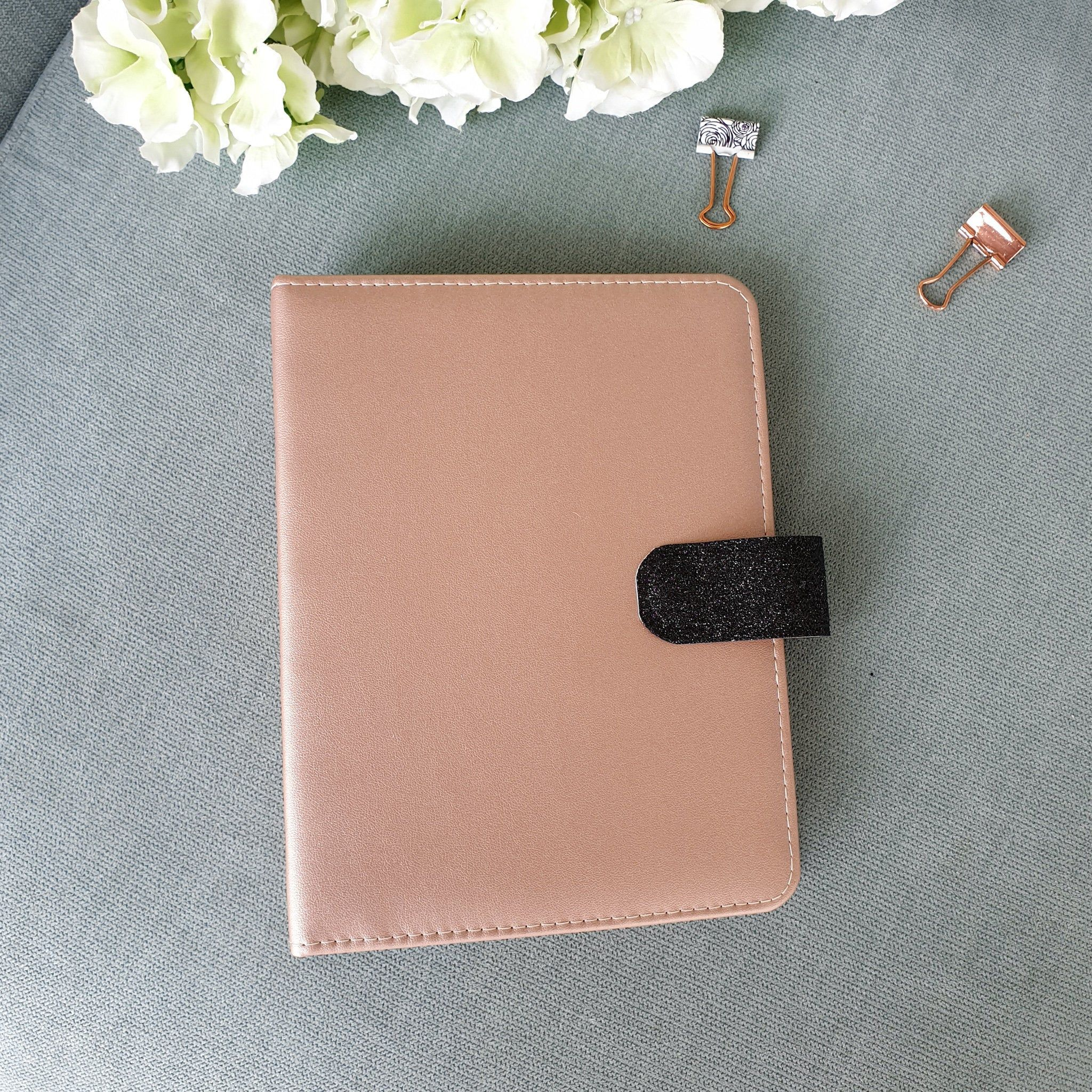 Rose Gold Planner Cover/Planner Binder/6 Rings Cover/b6