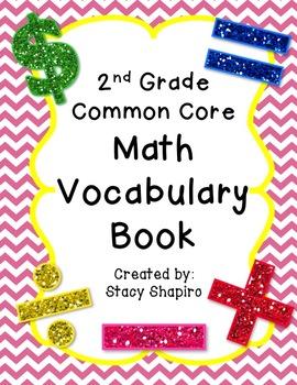 Second Grade Math Vocabulary Book Pinterest Math