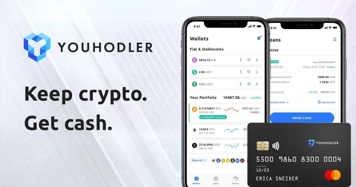 YouHodler Bitcoin Loans Repay loan, Credit card limit