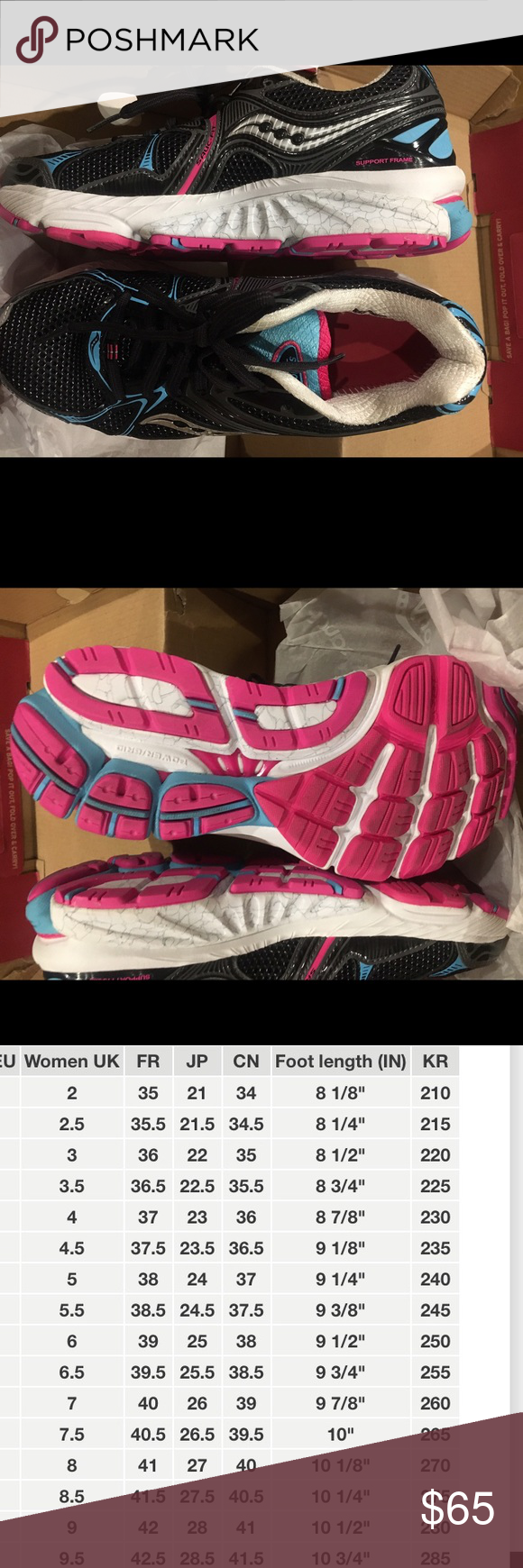 755a028f9ded Saucony Hurricane 16 Women Running Shoes Style Hurricane 16 women running  shoes (black blue pink)  never been worn. Slightly dirty on the bottom of  the ...