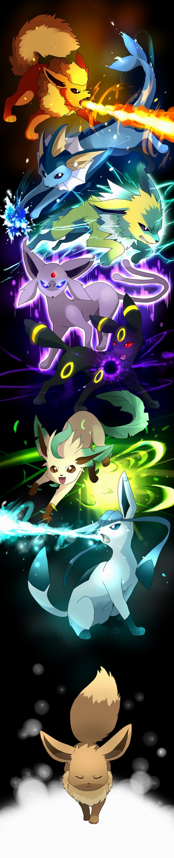 + Sylveon = all eeveeloutions! I like them all but I think my favorite has to be Umbreon :)