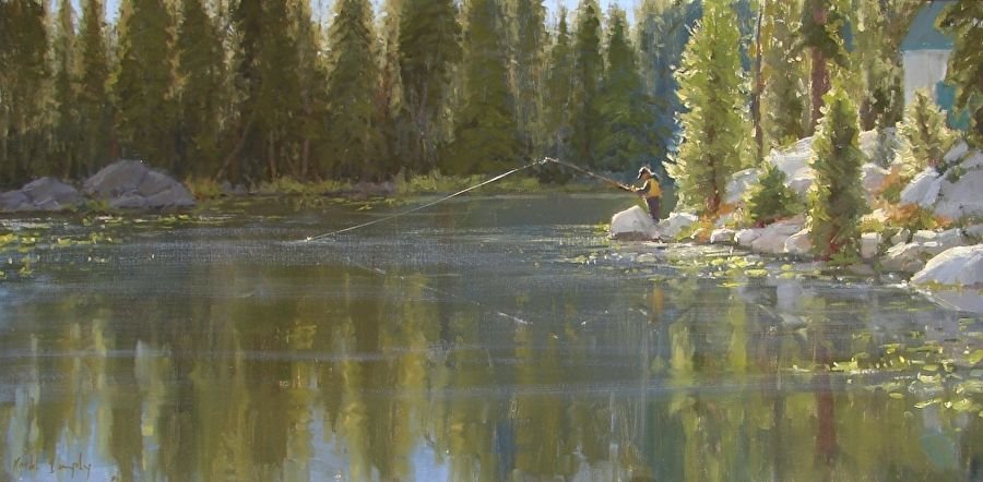 Chasing Rainbows by Kathleen Dunphy Oil ~ 18 x 36