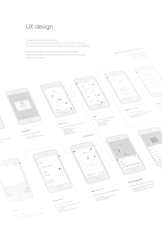 Card Diary iOS App on Behance App, Ios app, App design