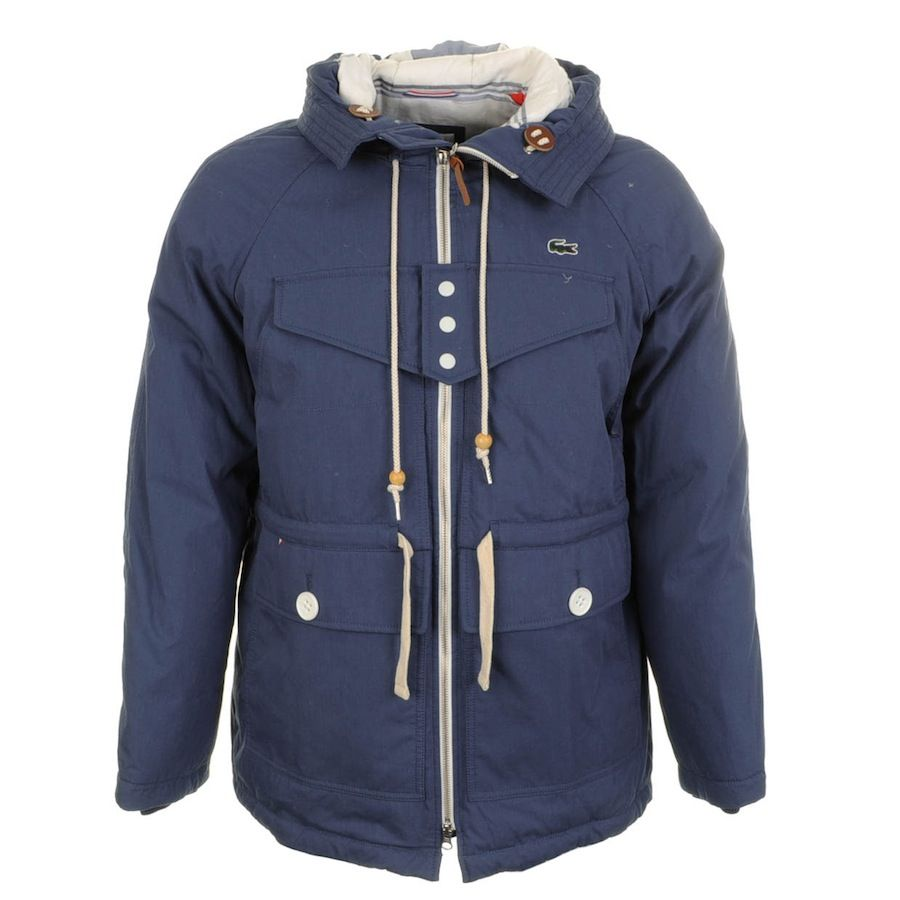 le dernier 8455a 197ab Lacoste > Lacoste Live Waterproof Hooded Parka Jacket Blue ...