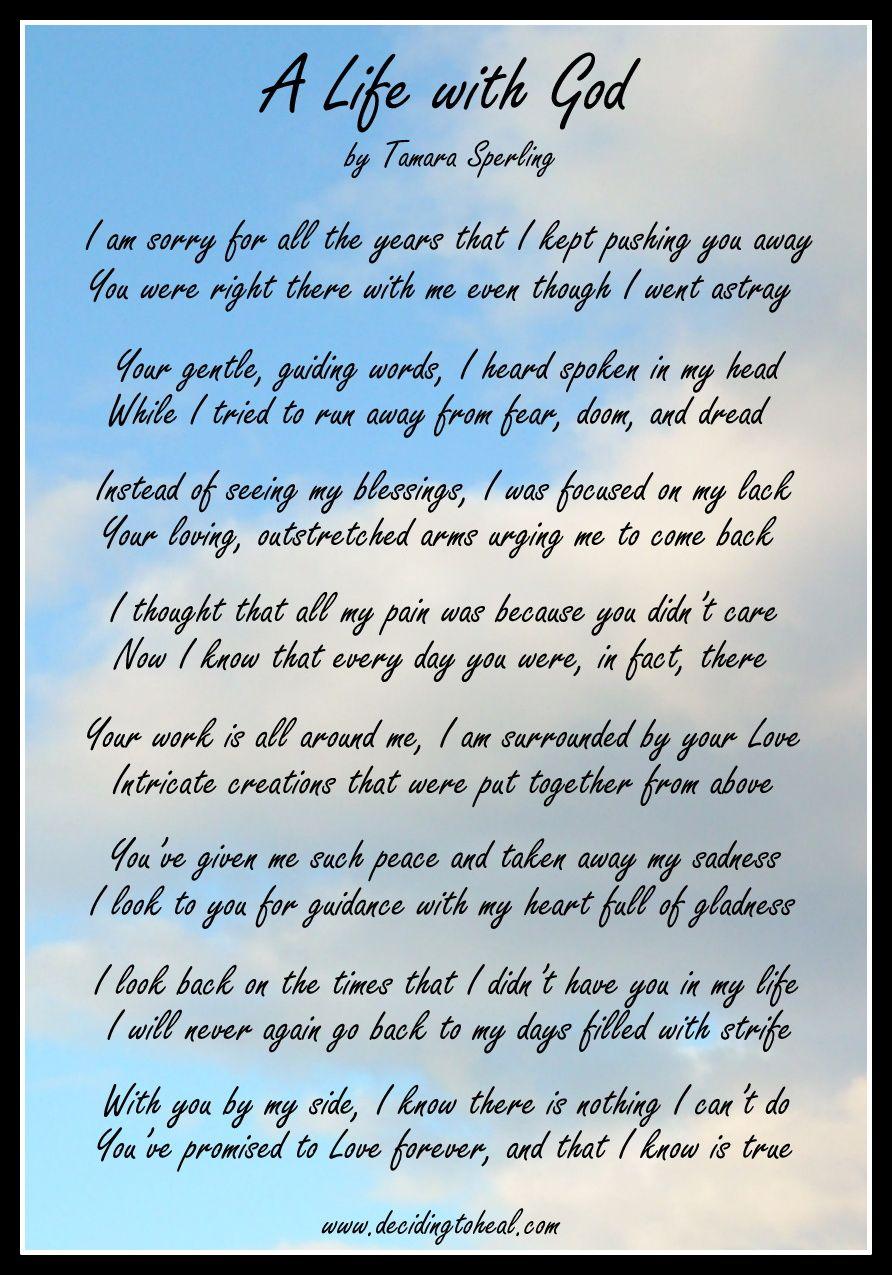 A Life with God - See more here: http://decidingtoheal.com/artwork ...