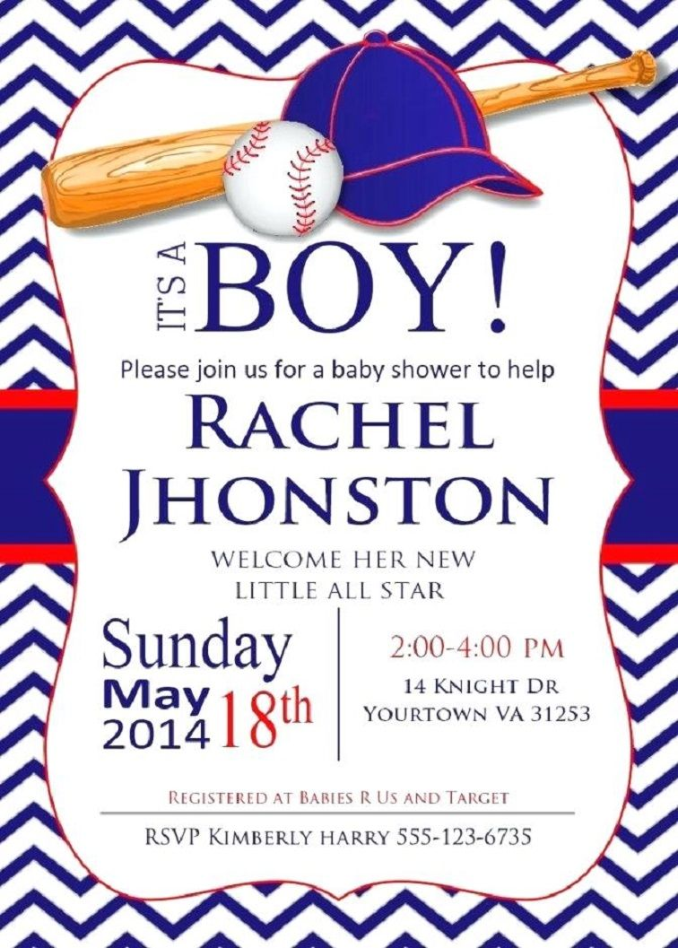 picture relating to Free Printable Baseball Baby Shower Invitations referred to as baseball child shower invites printable Celebration