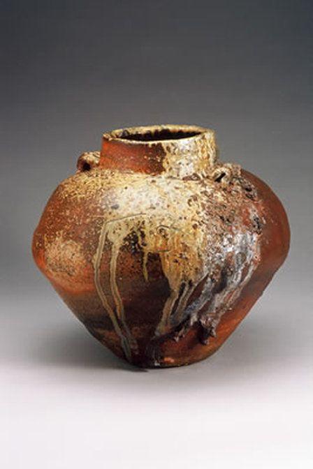 Hand Built Wood Fired Ceramic Urn Pot Ash Glazed By Janet Mansfield Australia Ceramic Art Ceramics Pottery