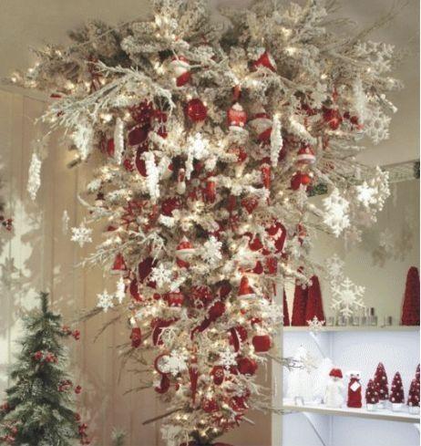 Upside down tree Christmas decorations Pinterest Christmas - christmas decor pinterest