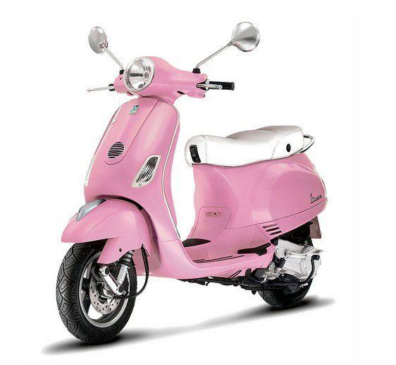 Pink Vespa With Images Pink Vespa Vespa Lx Pink Moped