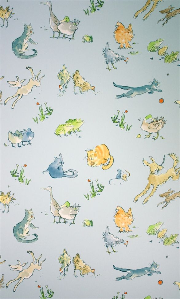 Quentinu0027s Menagerie By Quentin Blake W6063 Wallpaper | Zagazoo Wallpaper |  Osborne U0026 Little Wallpaper