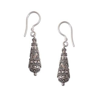Sterling Silver 'Traditions' Drop Earrings (Indonesia)