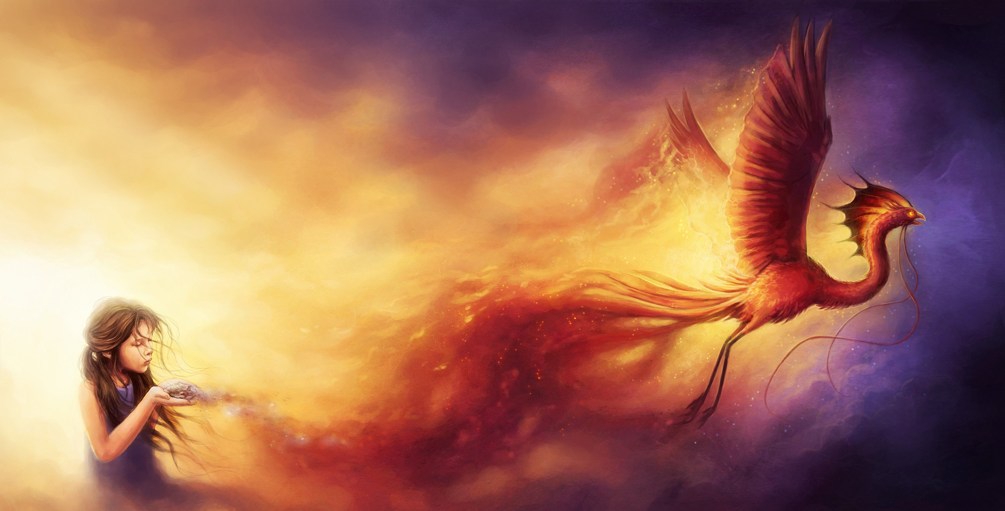 phoenix watercolor - Google zoeken | Other that I love | Pinterest ... for Girl Holding Fire Drawing  569ane