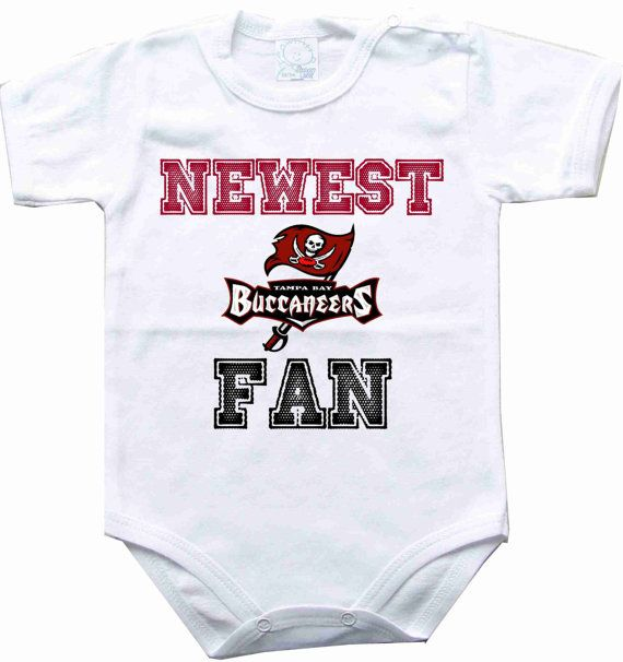cafa9dde Baby bodysuit Newest fan Tampa Bay Buccaneers by rockbabysuit ...