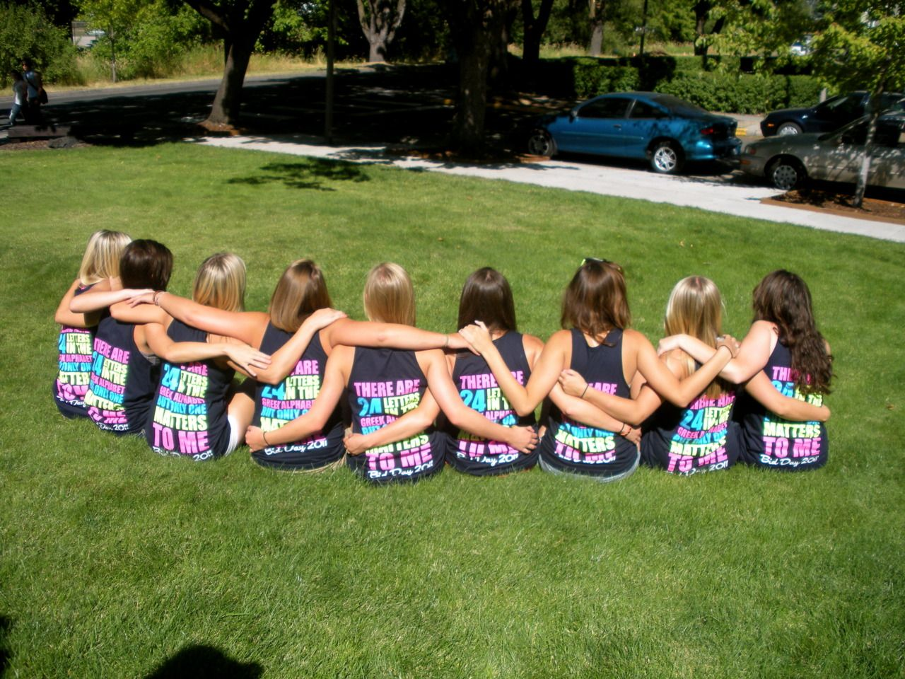 """""""There are 24 letters in the Greek alphabet but only three matter to me""""  CUTE! ΑΧΩ"""