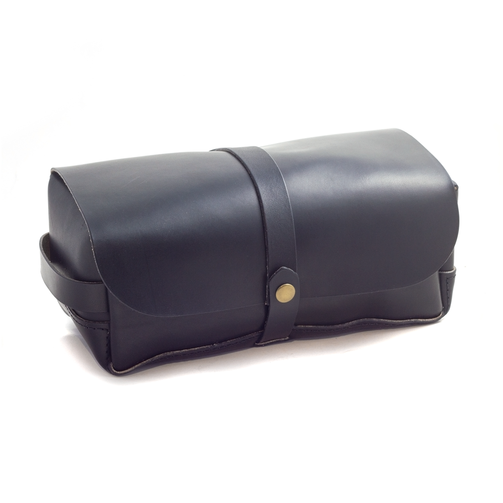 We chose to make our Dopp Kit entirely out of Chromexcel for it's water-resistant properties—Chromexcel is hot-stuffed with oils and waxes that get infused into the leather, then finished with a bath of neatsfoot oil, making it a prime choice for applications that require water-resistancy.