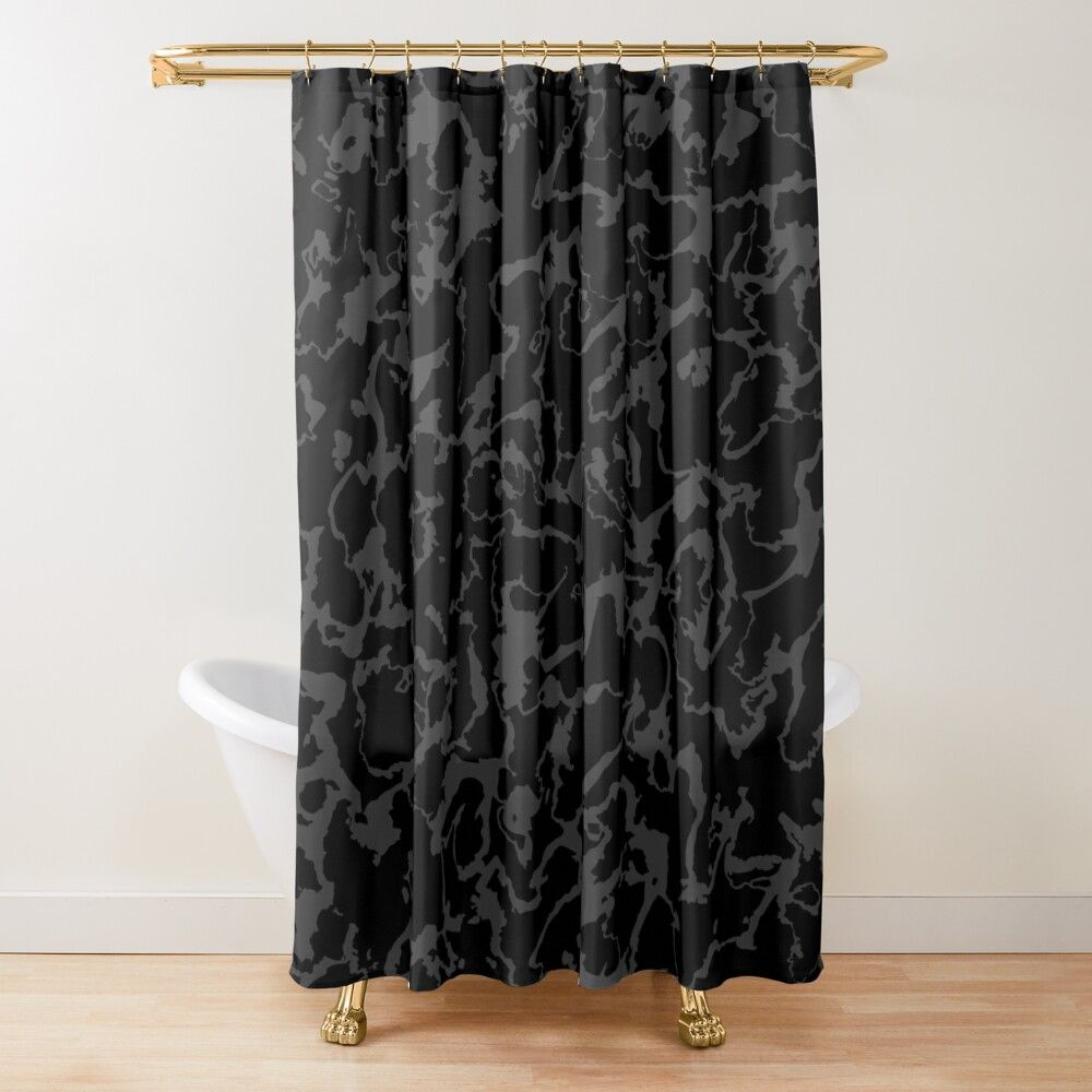Wild Marble Abstract Dark Shower Curtain By Lematworks Shower Curtain Dark Shower Curtain Curtains