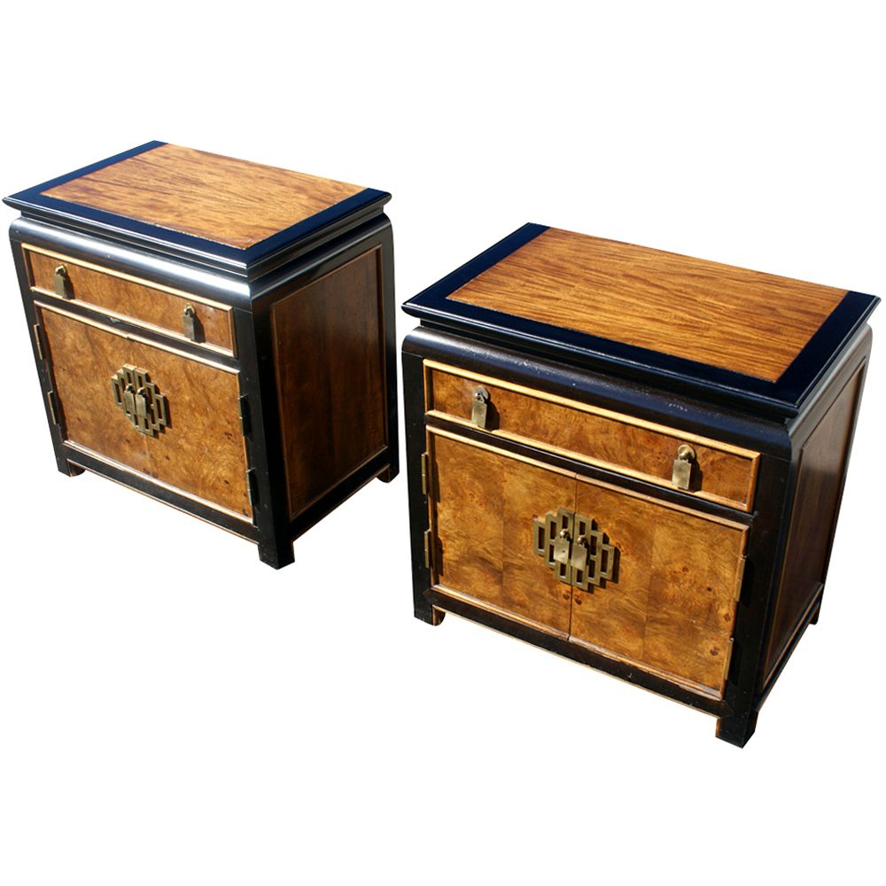 Hollywood Regency Chin Hua Nightstands By Century Furniture  # Meuble Tv Oriental