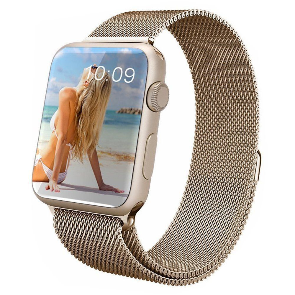 Touch Rage Apple Watch Band, Milanese Loop, Premium