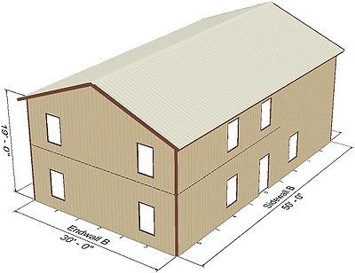 Attractive Steel Metal 2 Floor Home Shell Kit 2400 Sq Ft Barn Shed Prefab Storage