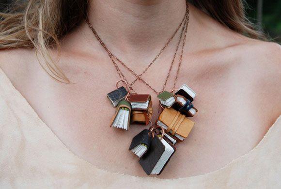 miniature book necklace - Google Search