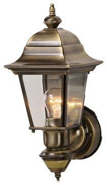 Antique Lighting Cottage Artisan Antique Brass Outdoor Motion Sensor Wall Light Wall Lights Brass Lighting Outdoor Wall Lighting