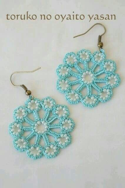 Aretes de perlas | JEW CROCHET | Pinterest | Aretes de perla, Aritos ...