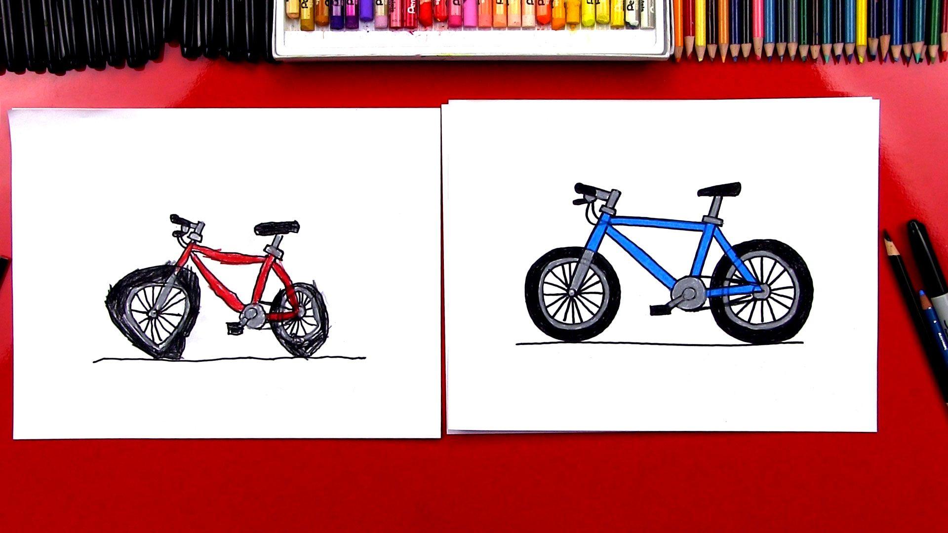 How To Draw A Bike Art For Kids Hub Art For Kids Hub