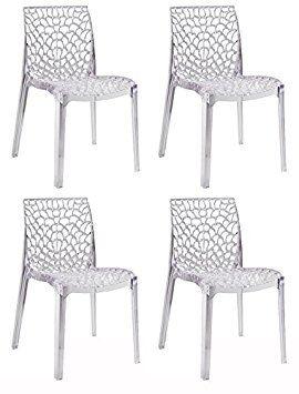4 De Ajourées Produit Confort Lot Chaises Empilables Design Et rdxeBoC