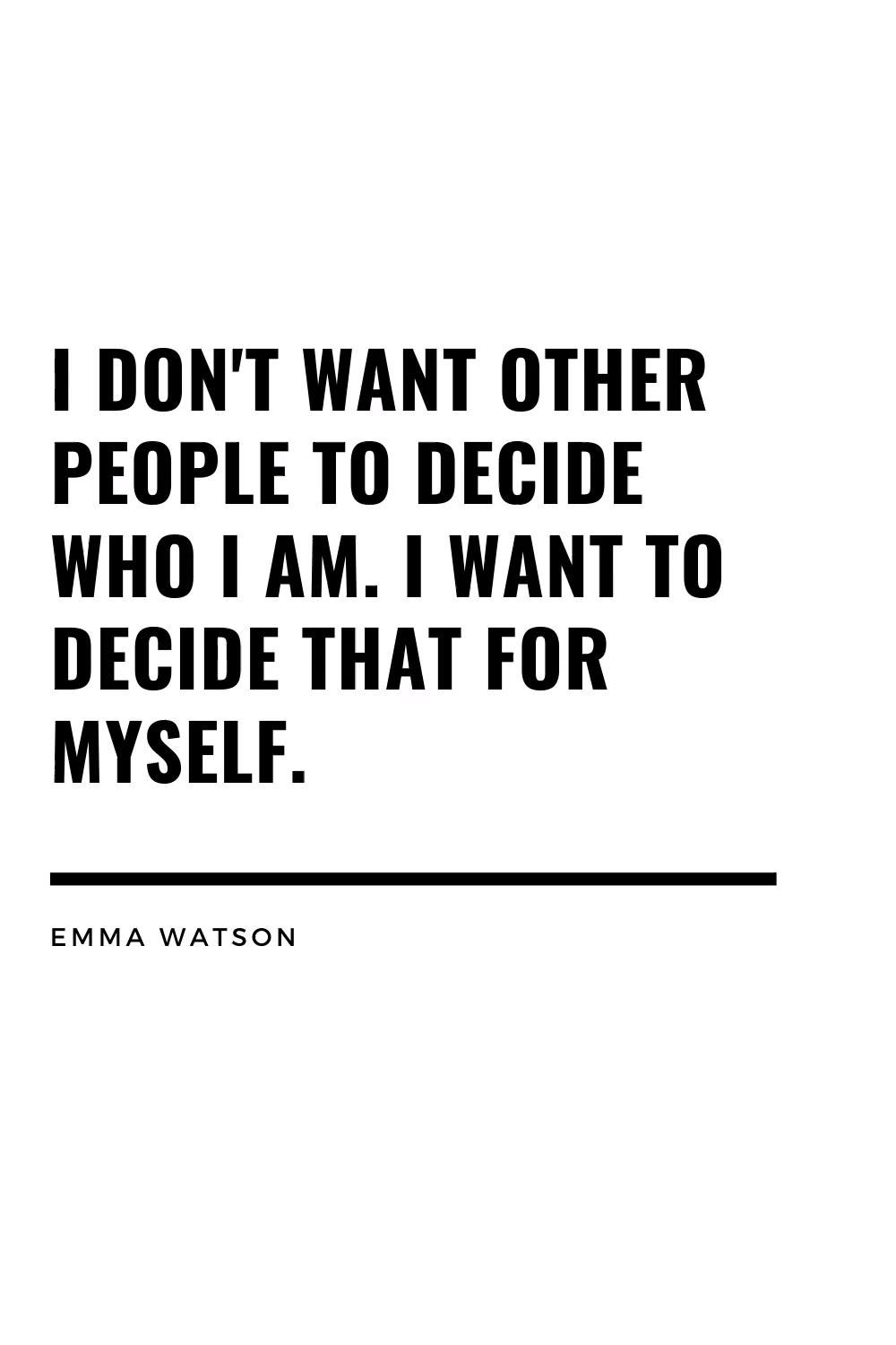 Inspirational Quote About Growth and Empowerment from Emma Watson.