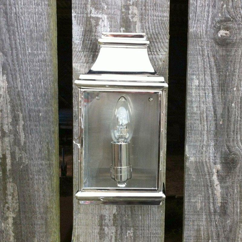 Outdoor Wall Light Accessories: Nickel Outdoor Wall Light At Idyll Home