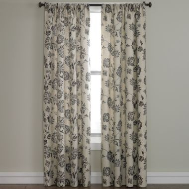 Linden StreetTM Madeline Rod Pocket Curtain Panel Found At JCPenney