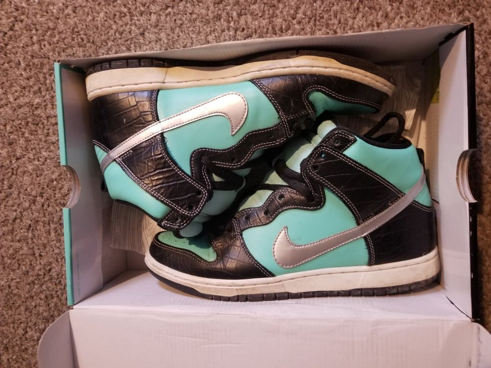 pre-owned Nike x Diamond Supply Co. Dunk High PRM SB Tiffany VNDS 2014 Size  10  fashion  clothing  shoes  accessories  mensshoes  athleticshoes (ebay  link) 6f6878d4d