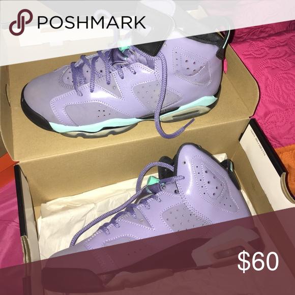 Air Jordan retro 6 Iron purple and mint green Jordan Shoes Sneakers