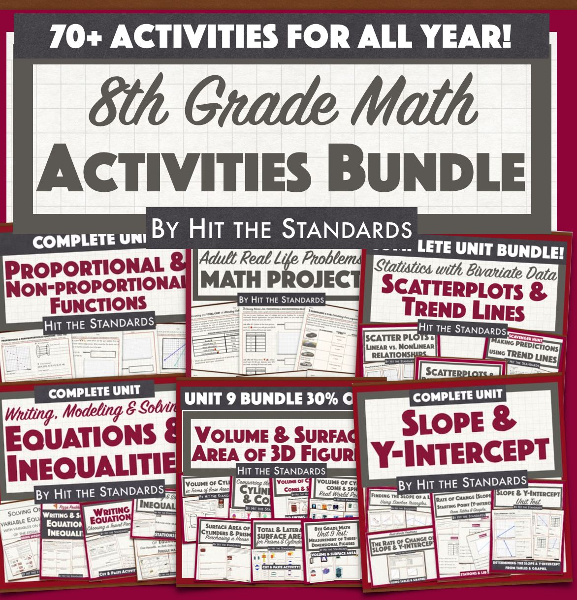 Middle School Math Activities For The Whole Year