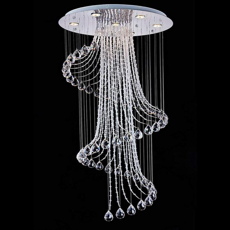 Crystal Raindrop Ceiling Chandelier In 2020 Modern Crystal