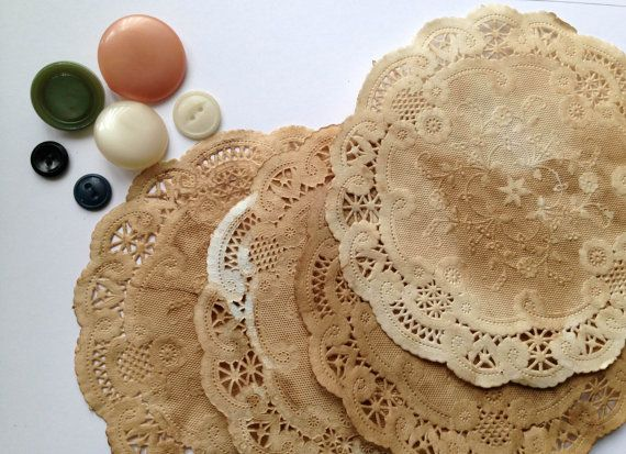 50 Paper Doilies 6 Inch Doily Boho Anthro Whimsical Vintage Wedding
