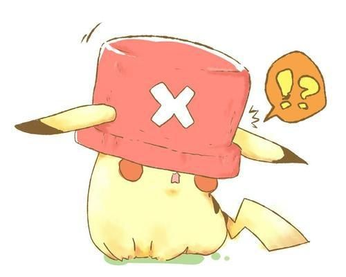 Pikachu chopper #one piece #pokemon