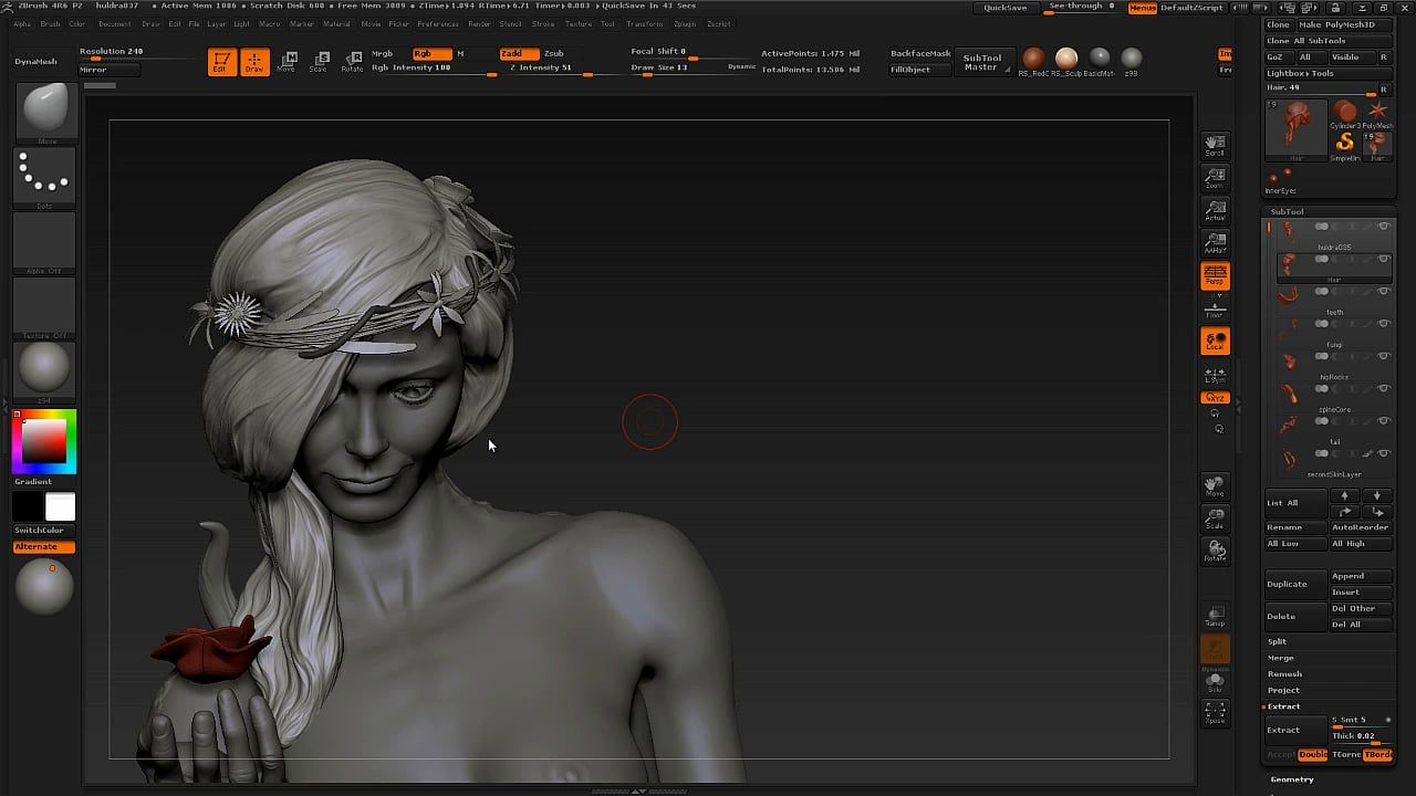Sculpting hair has been a highly requested video, so finally we got