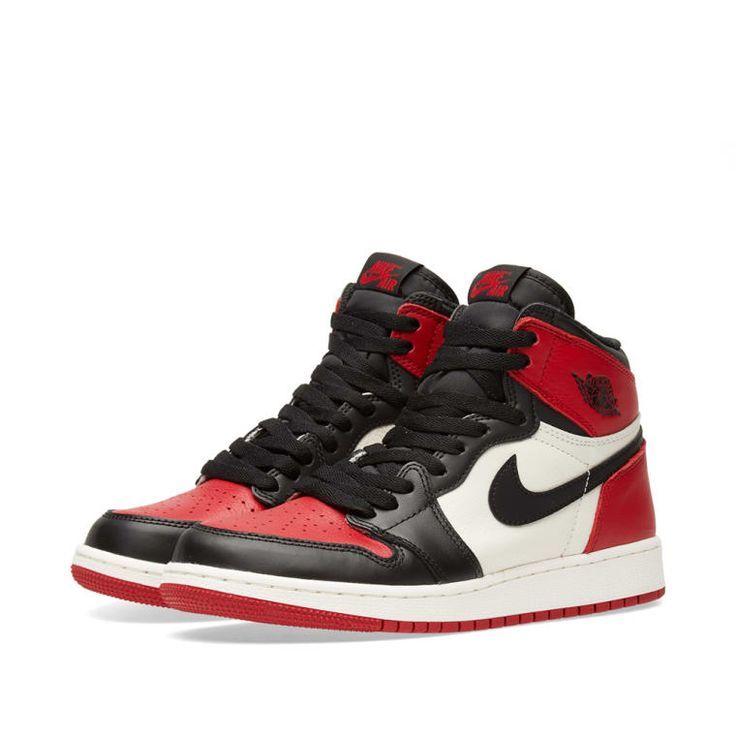 Nike Air Jordan 1 Retro High OG GS - Jordan 1 Outfit Women - Ideas of Jordan 1 Outfit Women #jordanoutfit #womenjordan - Nike Air Jordan 1 Retro High OG GS (Red Black & White)   END. #airjordan1outfitwomen