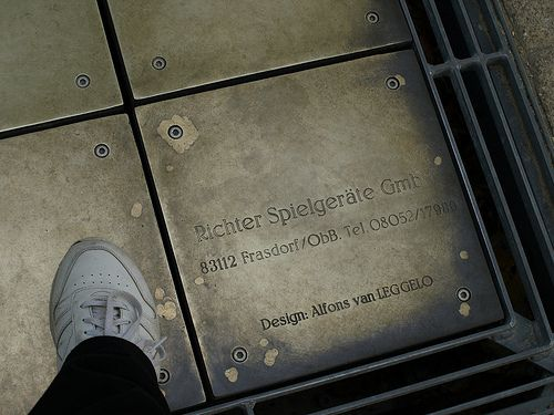 Foot chimes at Battery Park.