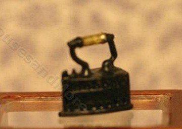 Dollhouse Miniature Black Padlock